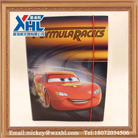 cartoon car robot a4 size plastic document box (with elastic closure)