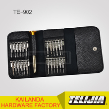 screwdriver kits with portable wallet pocket for mobile phone &computer&watch&glasses DIY,TE-902,the latest repair tool kit
