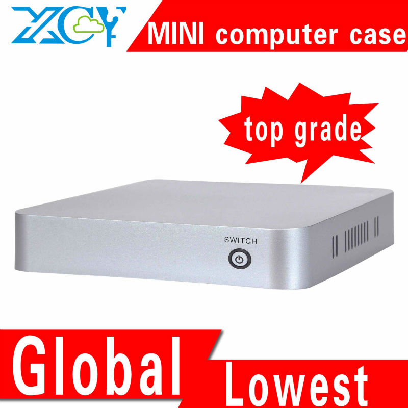 XCY L-19 htpc case itx PC casing case desktop atx support RJ-45 port/microphone/earphone