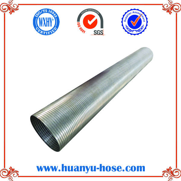 double layers 5*4*8inch with tube stainless steel flexible corrugated