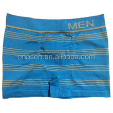Solid color seamless mens boxers & nylon men's underwear
