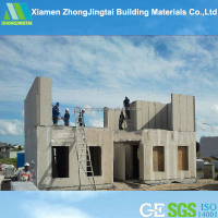 comfortable steel homes concrete precast houses for school direct selling