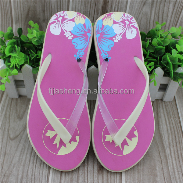 Girls design pvc strap new model eva slippers