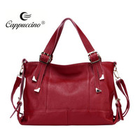 women's large stylish designer fashion top layer cowhide lady 100% genuine leather handbags stock available