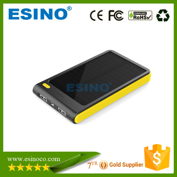 Nice and well slim body 5000 mah solar mobile phone charger