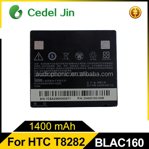 Lithium polymer battery 3.7v 1400mah, BLAC160 battery for HTC Touch HD/T8282/T8288