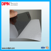 Self Adhesive One Way Vision Mesh Vinyl Stickers Window Film