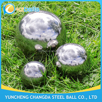 Garden Decoration Mirror Finished 36 Inch Hollow Steel Ball