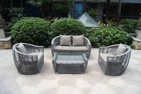 Waterproof plastic rattan wicker outdoor sofa set, new design garden outdoor furniture