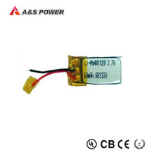 smallest lipo battery 3.7v 60mah small lithium polymer battery lipo cell for bluetooth 401120