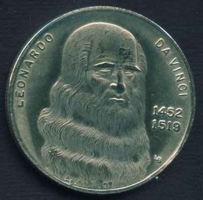 antiq coin cent leonardo