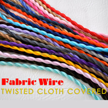 Multi Color 2 Core Lamp Braided Wire Nylon Coated Twisted Cable