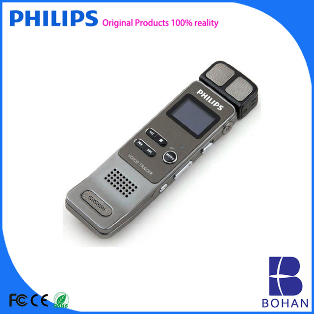 PHILIPS 2016 Good Quality 4GB 8GB Double Speakers for Stereo Sound Hidden Microphone Voice Recorder Mp3 with Wifi