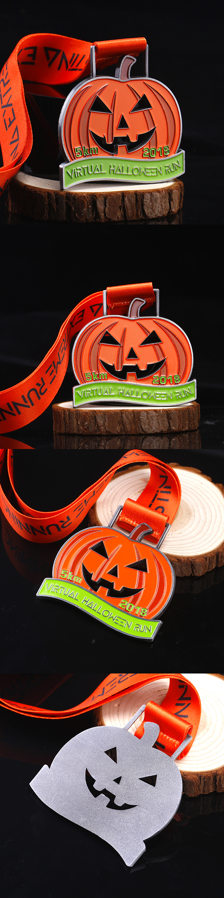 2018 Promotional cheap Halloween metal holiday running medals