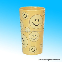 Ceramic Smiley Face Vase