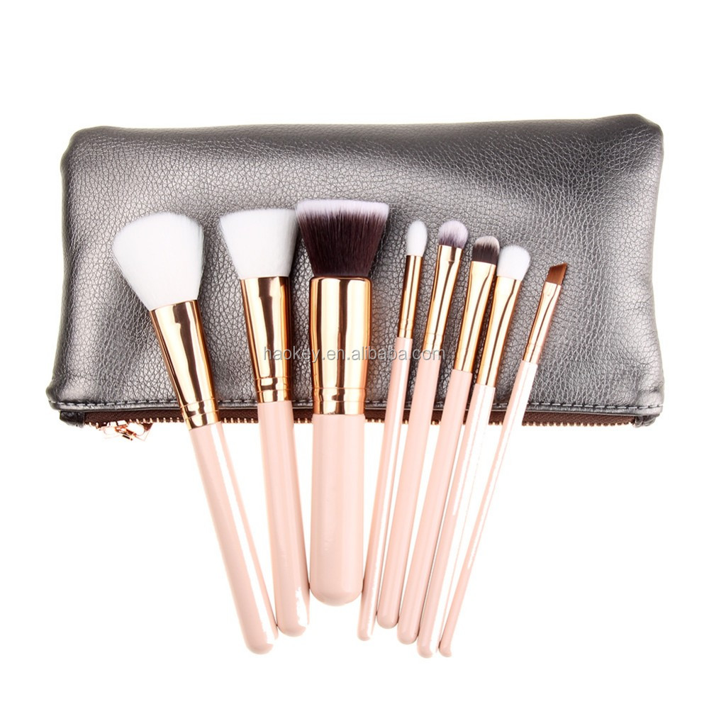 Professional make up brushes 8pcs facial makeup brush set