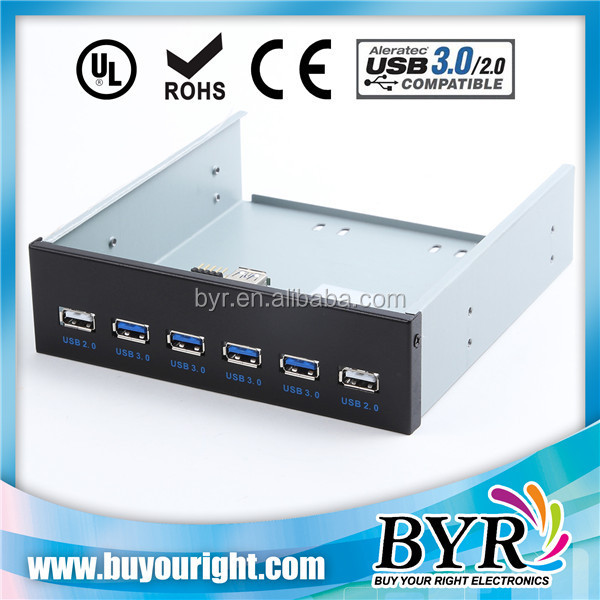Motherboard 20/9pin Header to USB 3.0 2.0 6 PORT Front Panel for DVD ROM
