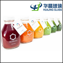 wholesale 473ml glass beverage bottle 16oz organic juice bottle with lid
