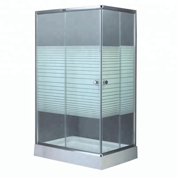Square Sliding door stainless steel shower enclosure