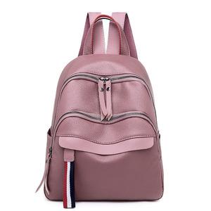 Fashion Lady Tote Bag PU Leather Pink Women Shoulder Bag 27e4ca0e38173