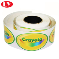 Custom Printed Adhesive PVC vinyl Sticker Label Packaging In Roll