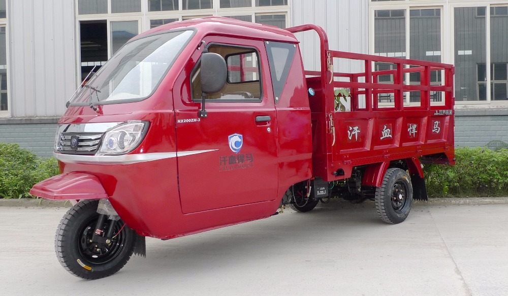 trade assurance 200cc full closed carbin truck lifan water cooled engine cargo tricycle