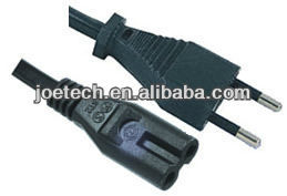 Italy power cord 2 pin Italy IMQ Power Cords with IEC connector C7