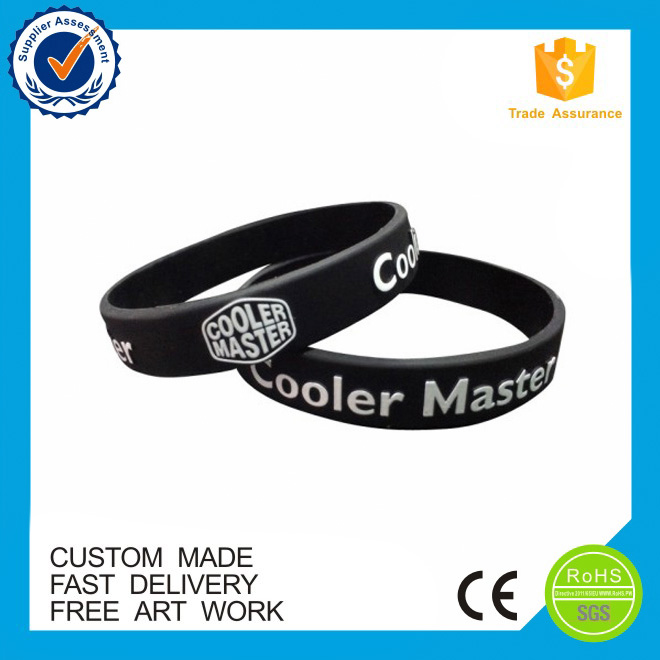 Promotion cheap free artwork silicone wristbands for party