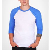 baseball t shirt 3 4 sleeve men gym with most popular t-shirt color