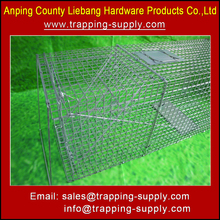 Humane Strong Folding Live Animal Trap Cage for Wild Animals Cat Fox Wolf Cub