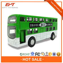Brand new diecast mini double decker city bus for wholesale