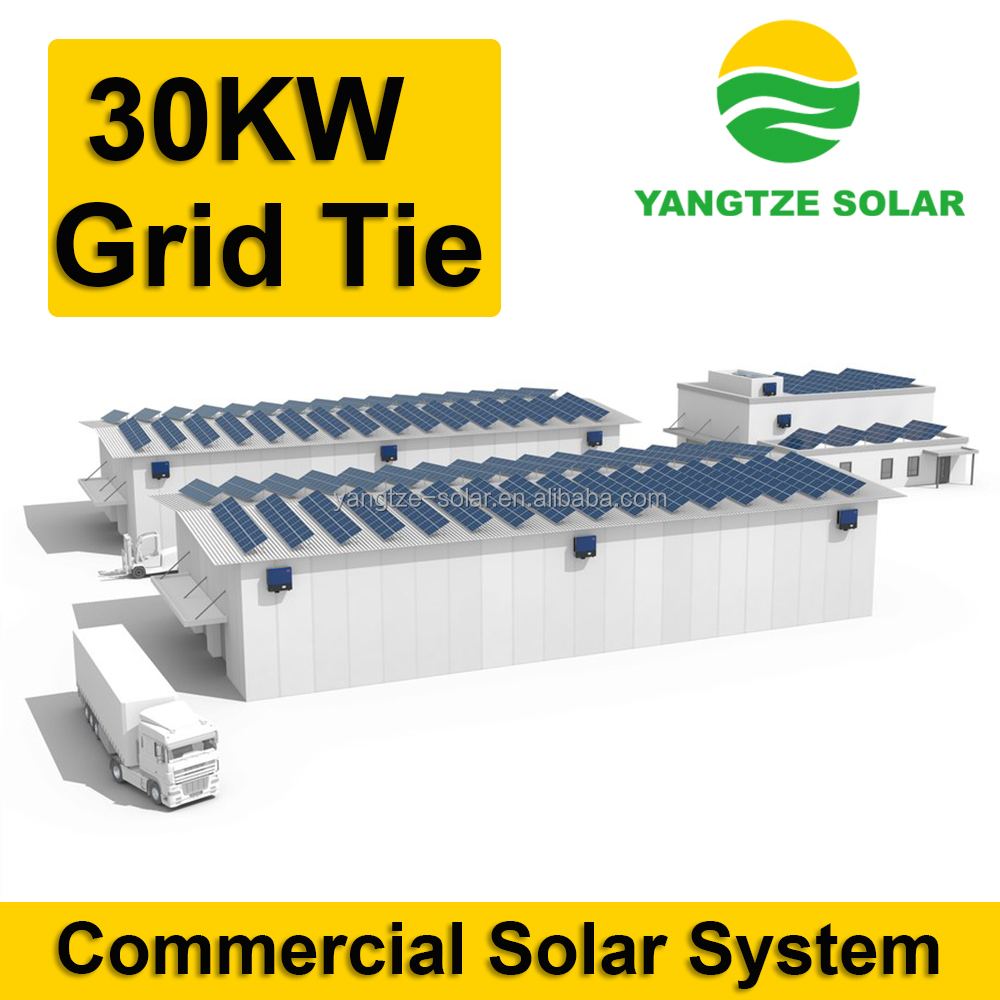 ISO CE TUV Approved 30kw electrical solar system