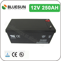 Better quality storage battery supplier deep cycle boat battery 12v250ah for home system