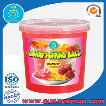 Popping Boba Strawberry Coating Juice