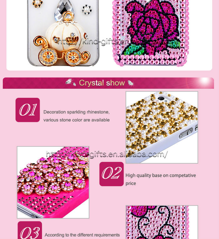 New Bling Rhinestone Mirror Case Mobile Phone Casing With Mirror