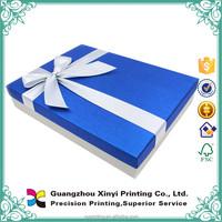 Valentine gift fashionable chocolate praline box with fancy ribbon
