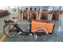 electric crago bike with disc brake Multi speed Electric Cargo size heavy duty bicycle electric cargo bike with white tire