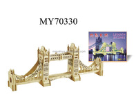 3D wooden Puzzle Tower Bridge Model Card Kit
