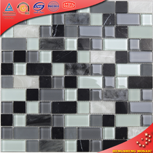 HYC04 Black Glass Mix Stone Mosaic Wall Tiles Living Rooms interior Wall Tile Design