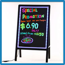 Hot Selling Sign LED Message Writing Board 90 Flashing Modes Mini LED Message Writing Board Aluminum Alloy Frame Bar Message