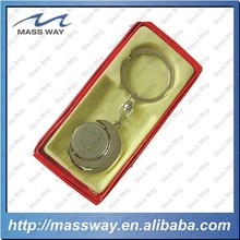 promotional custom zinc alloy 3D moon shape metal key chain