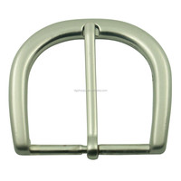 Manufacturing nickel free zinc alloy classic silver metal pin buckle for belt