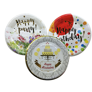 Kids party Supplies Fancy Party Paper Plates Round Paper Dish