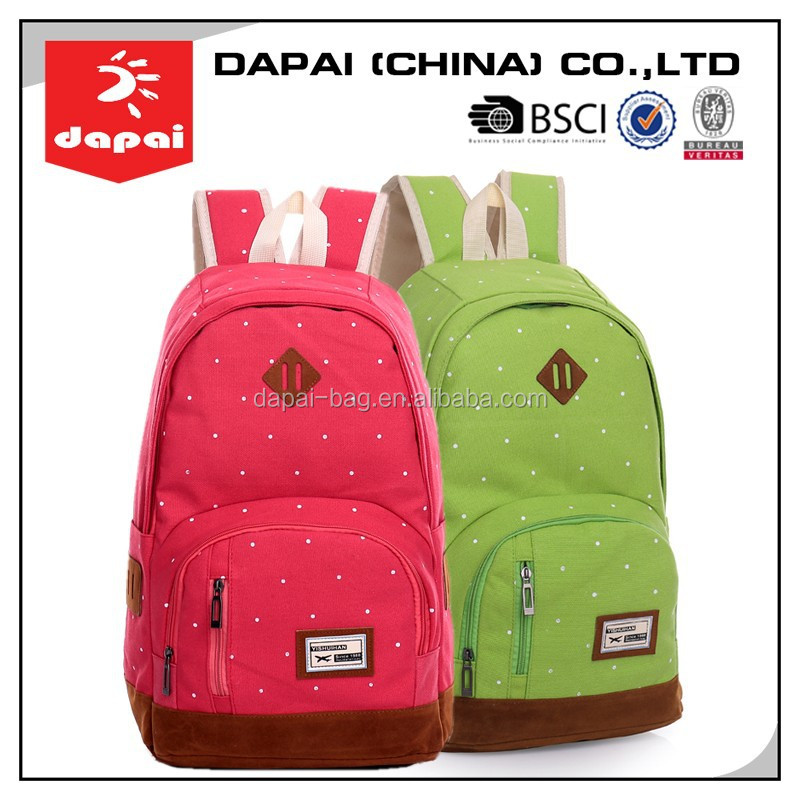 Funny Canvas School Backpack Wholesale Backpack