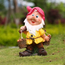 Christmas garden decoration the seven dwarfs statues fiberglass