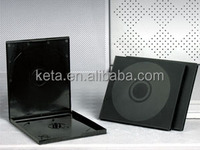 10mm Double Discs Black Cover Square PP CD Case For CD Packaging