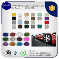 trade assurance electrostatic spray car paint powder coating with ral colors