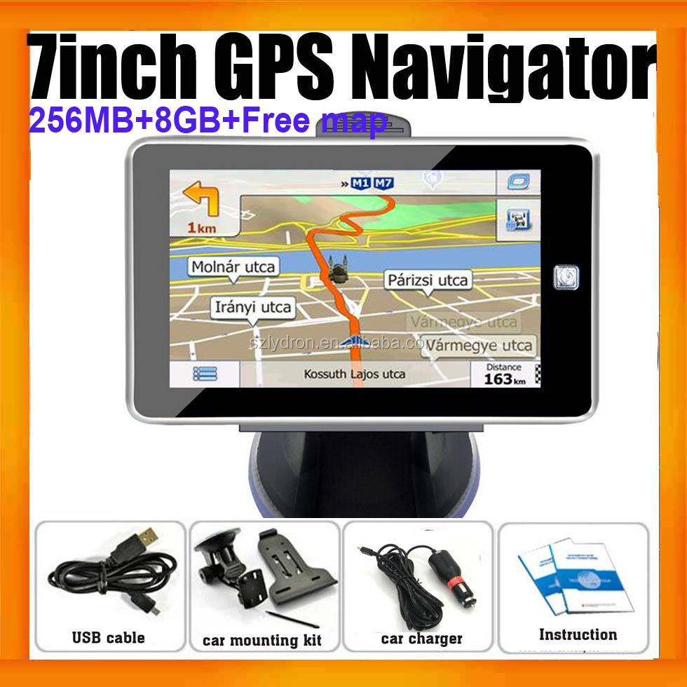7inch Wince Truck Car GPS Navigator With 256MB And 8GB