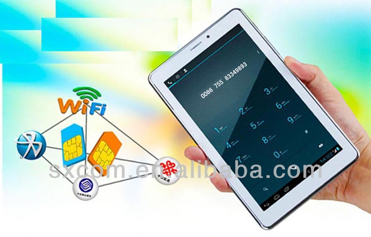 Dual Sim Card WCDMA/GSM/GPRS Phone Call Table PC