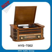 Wooden Design Gramophone Portable Turntable With CD Players For Sale
